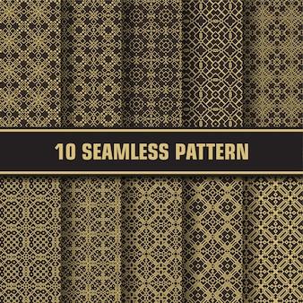 Paquete de patrones vintage de lujo