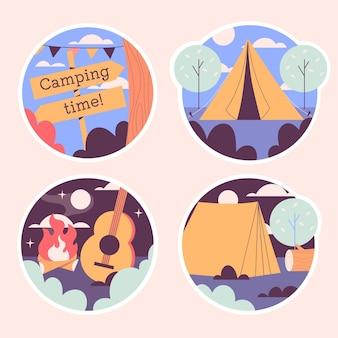 Paquete de pegatinas de camping ingenuo
