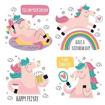 Paquete de pegatinas divertidas doodle