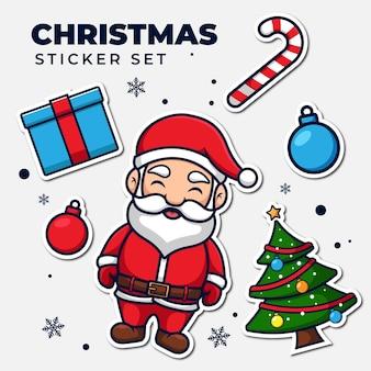Paquete de pegatinas navideñas