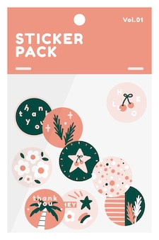Paquete de pegatinas de verano