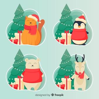 Paquete personajes navidad sonriendo