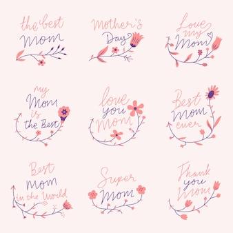 Paquete plano de día de la madre