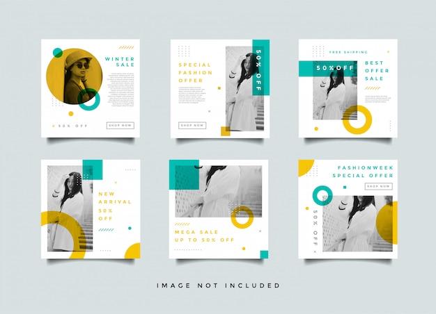 Paquete de plantilla minimalista para publicaciones en redes sociales