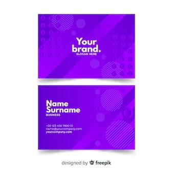 Paquete de plantilla de tarjeta de visita monocromática abstracta