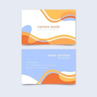 Paquete de plantilla de tarjeta de visita pintada abstracta