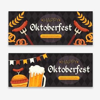 Paquete de plantillas de banner de oktoberfest