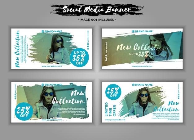 Paquete de plantillas de banner de redes sociales de moda