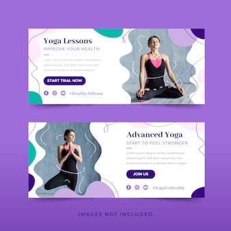 Paquete de plantillas de banner de yoga