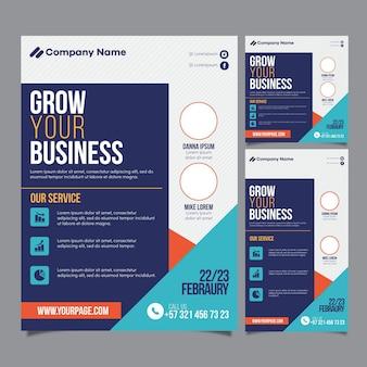 Paquete de plantillas de folletos de seminarios web
