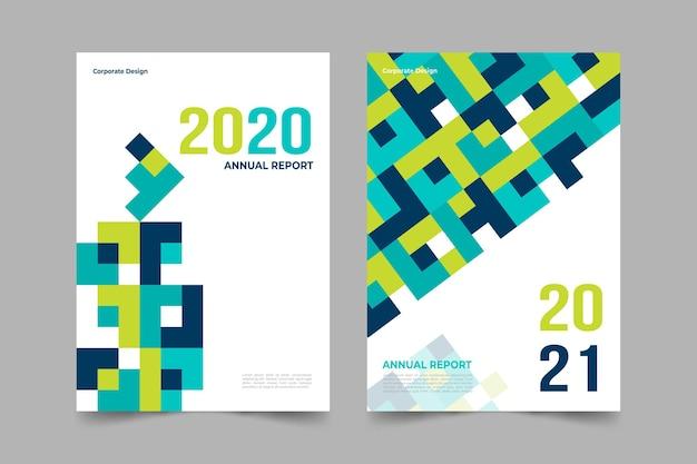 Paquete de plantillas de informes anuales abstractos