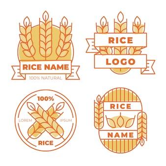 Paquete de plantillas de logotipo de arroz