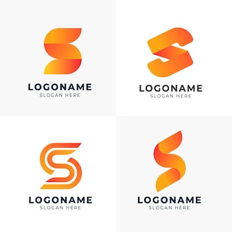 Paquete de plantillas de logotipo degradado s