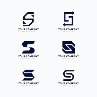 Paquete de plantillas de logotipo de diseño plano s