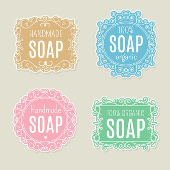 Paquete de plantillas de logotipo de jabón