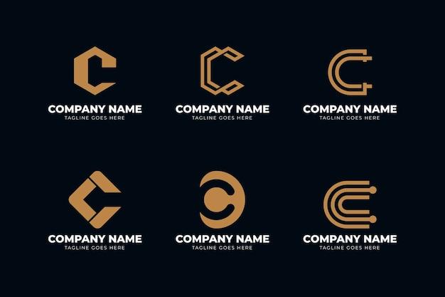 Paquete de plantillas de logotipo plano c