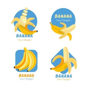 Paquete de plantillas de logotipo de plátano