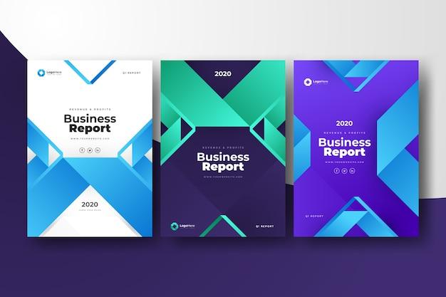 Paquete de plantillas de negocio abstracto con formas