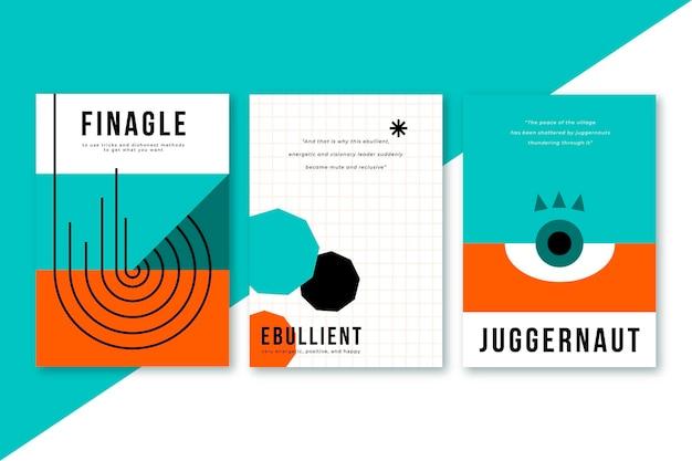Paquete de plantillas de portadas abstractas
