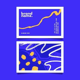 Paquete de plantillas de tarjeta de visita abstracta