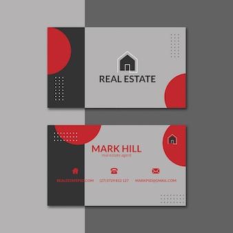 Paquete de plantillas de tarjetas de visita inmobiliarias
