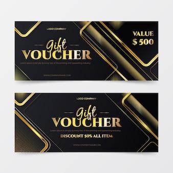 Paquete de plantillas de vales de regalo dorados