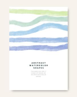 Paquete de portadas de formas de diseño abstracto