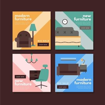 Paquete de publicaciones ig de venta de muebles con foto