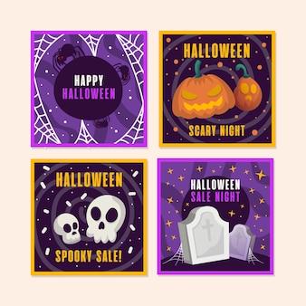 Paquete de publicaciones de instagram de eventos de halloween