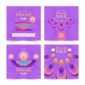 Paquete de publicaciones de venta de instagram de diwali