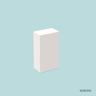 Paquete rectangular en blanco