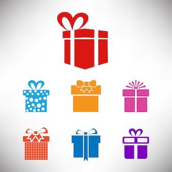 Paquete de regalo en fondo blanco