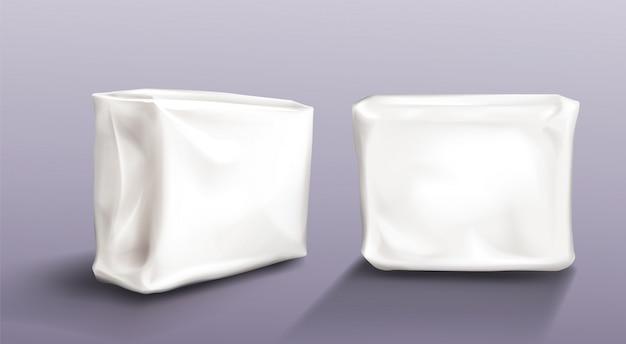 Paquete de servilletas en blanco conjunto de toallas húmedas