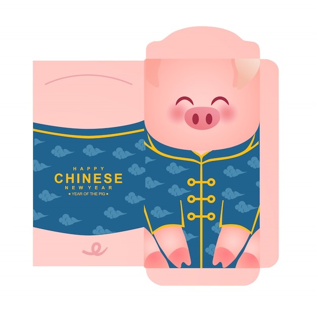 Paquete de sobres de dinero del año nuevo chino