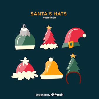 Paquete sombreros santa diademas