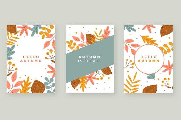 Paquete de tarjeta de otoño