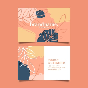 Paquete de tarjeta de visita abstracta