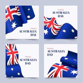 Paquete de tarjetas de felicitación del día de australia