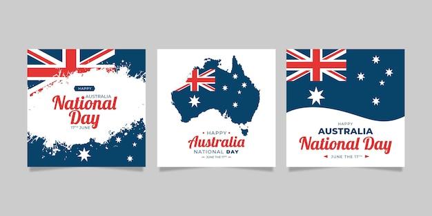 Paquete de tarjetas de felicitación día de australia