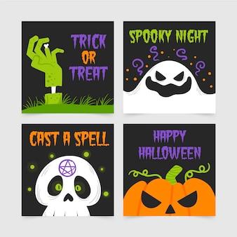 Paquete de tarjetas de halloween