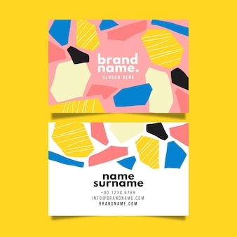 Paquete de tarjetas de presentación abstractas