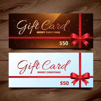 Paquete de tarjetas de regalo navideñas