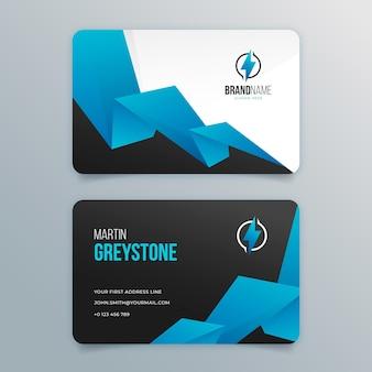 Paquete de tarjetas de visita de doble cara de electricista