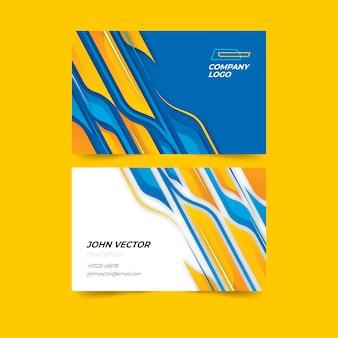 Paquete de tarjetas de visita de formas abstractas