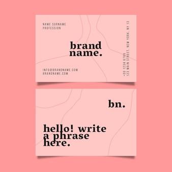 Paquete de tarjetas de visita minimalistas