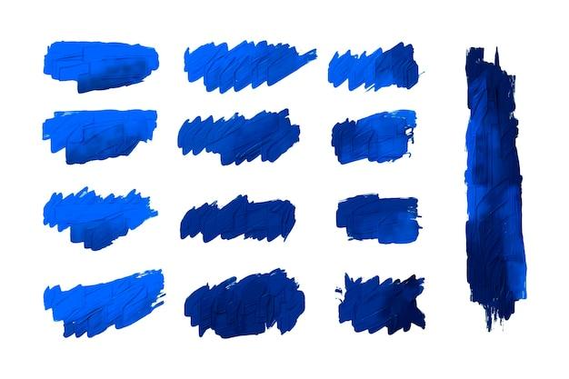 Paquete de trazos de pincel acrílico pintado a mano