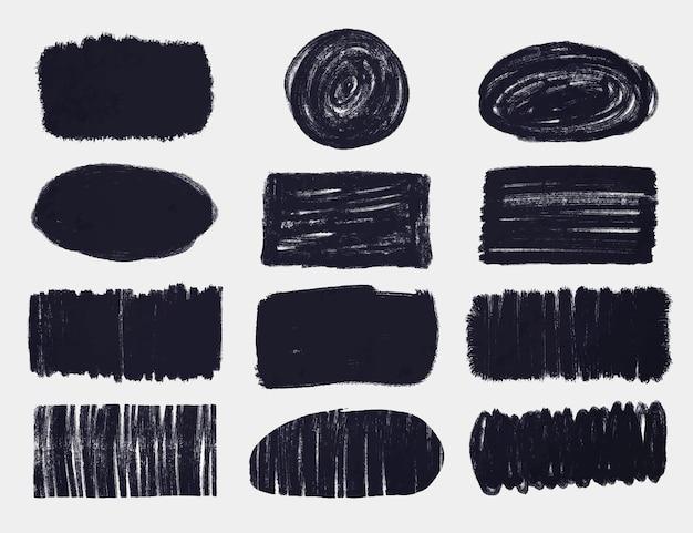 Paquete de trazos de pincel de tinta