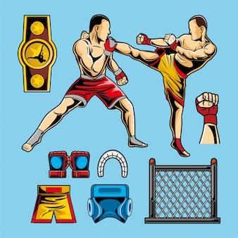 Paquete de vectores de artes marciales mixtas