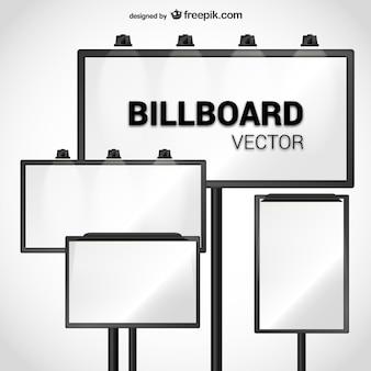 Paquete de vectores de carteles de anuncios