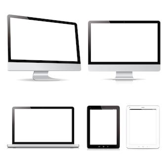 Paquete de vectores dispositivos electrónicos de la tableta de la computadora